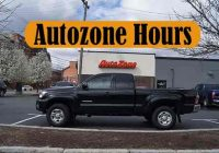 Autozone Holiday Hours